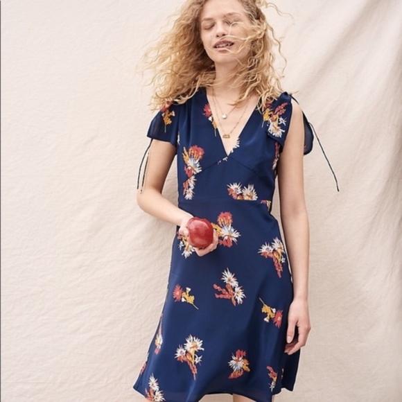 d9abc6ec995a Madewell Dresses & Skirts - Madewell Silk Poppy Dress in Cactus Flower